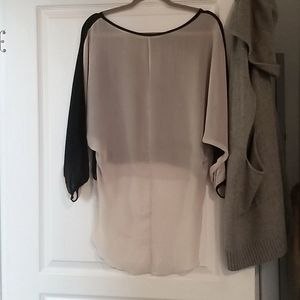 Sheer black and beige/cream top